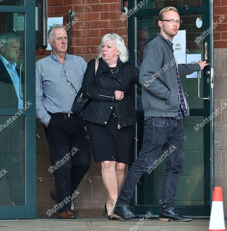 Stock Picture of Sadie Hartley Murder Trial At Preston Crown Court Preston Lancs. (l To R) Garry Hartley Ex-husband Of Sadie Hartley Julie Taylor (r) The Best Friend And Business Partner And Sadie Hatley's Son Harry Hartley At Court. - 4/8/16.