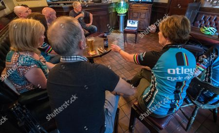 Local Otley Cycle Club Members Watch Lizzie Armitstead Race In The Olympics. Aug 7th 2016 - Otley UK. Lizzie Armistead Olympics
