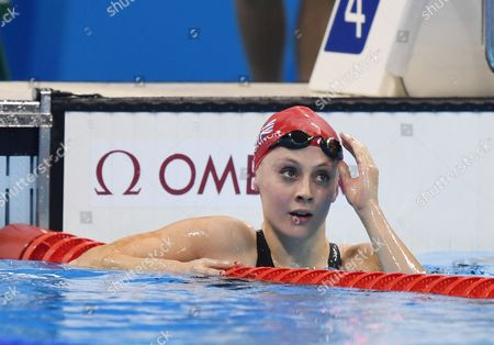Stock Photo of Swimming Finals Siobhan-marie O'connor Wins Silver Rio Olympics Brazil 2016.