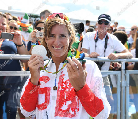 Team Gb's Katherine Grainger Wins Silver In The Doubl Sculls With Vicky Thornley. Her Fifth Medal In 5 Olympics. Rio Olympics Brazil.