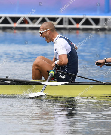 Team Gb Rowing Mo Sibhi Alex Gregory George Nash And Constantine Louloudis Win Gold In The Coxless Four Rio Olympics Brazil.