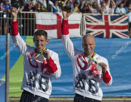 David Florence And Richard Hounslow Take Silver In The Men's Final Of The Canoe Double (c2) At The Whitewater Stadium Rio De Janeiro. Rio Olympics 2016 11.08.16.