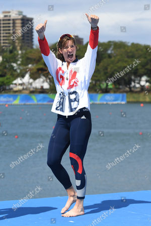 Brazil Olympics 2016: Rowing: Team Gb's Katherine Grainger (pictured) And Vicky Thornley Won Silver In The Women's Double Sculls Rio Olympics Brazil.