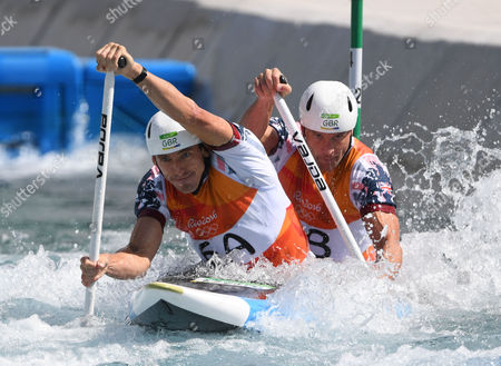 David Florence And Richard Hounslow Qualify For The Men's Final Of The Canoe Double (c2) At The Whitewater Stadium Rio De Janeiro.rio 2016.