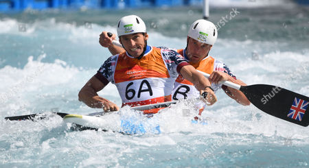 Stock Picture of David Florence And Richard Hounslow Qualify For The Men's Final Of The Canoe Double (c2) At The Whitewater Stadium Rio De Janeiro. Rio 2016.
