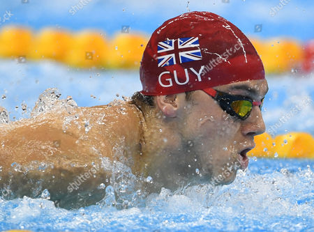 Team Gb Win Silver In The 4x100m Medley Relay At The Olympic Pool In Rio De Janeiro Brazil. Team Gb - Chris Walker-hebburn Adam Peaty James Guy (pictured) And Duncan Scott.