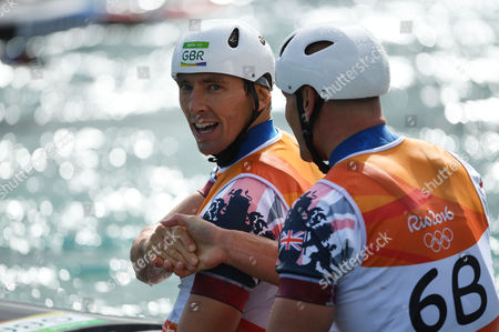 David Florence And Richard Hounslow Take Silver In The Men's Final Of The Canoe Double (c2) At The Whitewater Stadium Rio De Janeiro. Rio Olympics 2016. 11.08.16.