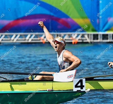 Team Gb Rowing Mens Eight Scott Durrent Tom Ransley Andrew T Hodge Matt Gotrel Pete Reed Paul Bennett Matt Langridge William Satch Phelan Hill Rio Olympics Brazil./daaiy Mail.