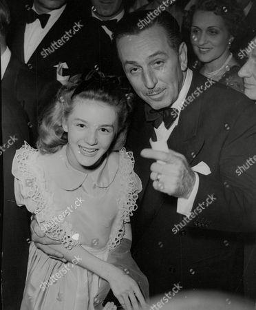Walt Disney With Actress Kathryn Beaumont. Box 711 825101631 A.jpg.