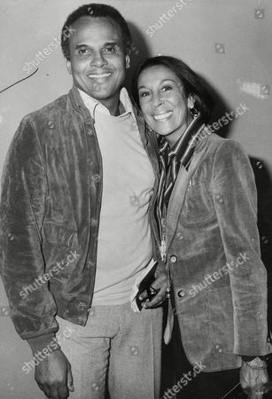 Singer Harry Belafonte With His Wife Julie Arriving At Heathrow Airport. Box 711 525101625 A.jpg.