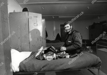 Hampshire Police Constable Ian Beattie For Feature On The Role Of Rural Constables And Their Role In The Nottinghamshire Pit Strike Situation. He Is Pictured In Barracks Where He Had To Spend Spare Time. Box 712 227101617 A.jpg.