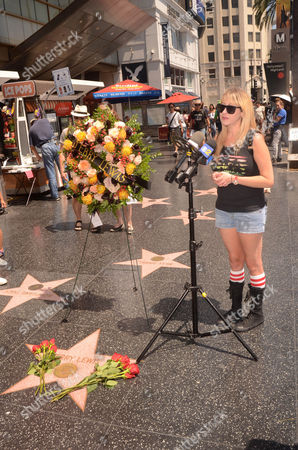 Editorial image of Kimi Lewis visits Jerry Lewis' Hollywood Walk of Fame, Los Angeles, USA - 21 Aug 2017