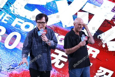 Stock Photo of Jackie Chan and Martin Campbell
