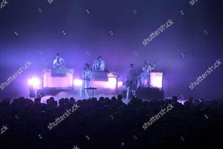Editorial picture of Metronomy in concert, Philharmonie de Paris, Paris, France - 03 Jul 2017