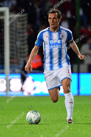 Huddersfield's Dean Whitehead the EFL Carabao Cup second round match