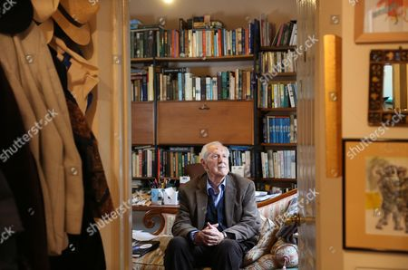 Editorial image of Brian Aldiss photoshoot, Oxford, UK - 13 Jul 2015
