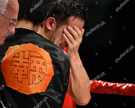 Shinsuke Yamanaka (JPN) - Boxing : Shinsuke Yamanaka of Japan cries after losing the WBC bantamweight title bout at Shimazu Arena Kyoto in Kyoto, Japan.