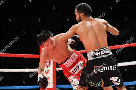 Shinsuke Yamanaka (JPN), Luis Nery (MEX) - Boxing : Champion Shinsuke Yamanaka (L) of Japan and challenger Luis Nery of Mexico during the WBC bantamweight title bout at Shimazu Arena Kyoto in Kyoto, Japan.