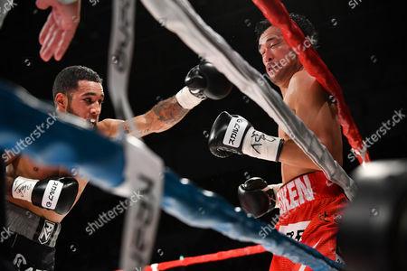 Luis Nery (MEX), Shinsuke Yamanaka (JPN) - Boxing : Champion Shinsuke Yamanaka (R) of Japan and challenger Luis Nery of Mexico during the WBC bantamweight title bout at Shimazu Arena Kyoto in Kyoto, Japan.