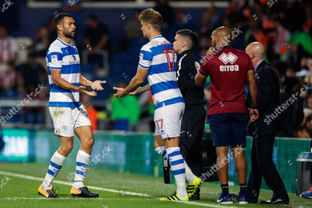 Steven Caulker of QPR is substituted off and replaced by Matt Smith