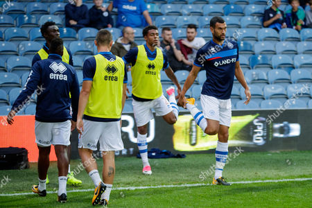 Stock Picture of Steven Caulker of QPR warming up