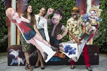 Adriana Ugarte (L), Michelle Jenner (C) and Jose Corbacho