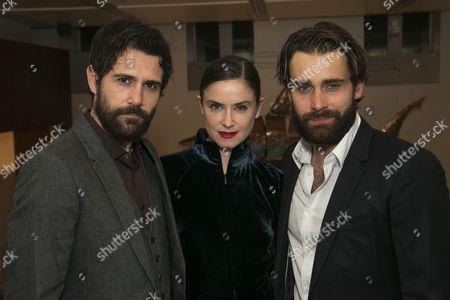 Matt Ryan (Gilbert), Judith Roddy (Young Woman) and Christian Cooke (Pony William)