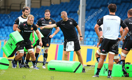 Exeter Chiefs Assistant Coach, Robin Hunter during Exeter Chiefs training at Sandy Park on August 22nd 2017, Exeter, Devon.