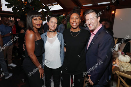 Angela Bassett, Lucy Mukerjee-Brown - Director of Programming, OUTFEST, Lena Waithe and Christopher Racster - Exec. Director, OUTFEST