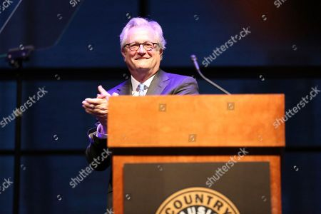 "Country Music Hall of Fame and Museum Director Kyle Young speaks at the exhibit opening of ""Loretta Lynn: Blue Country Girl"" at the Country Music Hall of Fame and Museum on in Nashville, Tenn"