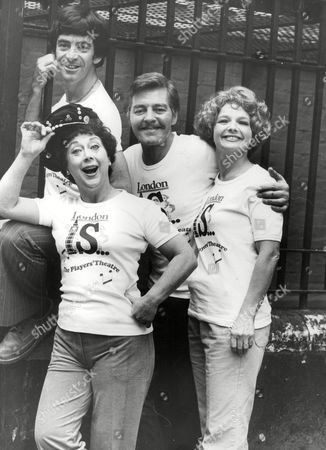 Members Of The Players Theatre Who Are Off To Manila. L-r: Deryk Parkin Sheila Bernette Norman Warwick And Julia Sutton. Box 714 501111621 A.jpg.