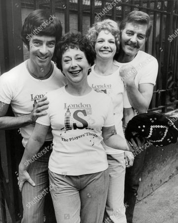 Editorial photo of Members Of The Players Theatre Who Are Off To Manila. L-r: Deryk Parkin Sheila Bernette Julia Sutton And Norman Warwick. Box 714 501111622 A.jpg.