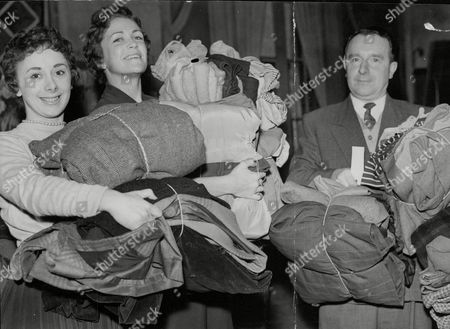 Actresses Sheila Bernette (l) And Eleanor Mccready With Donations Of Clothing For The Hungarian Refugees Relief Centre At Notting Hill Gate. Box 715 10411163 A.jpg.