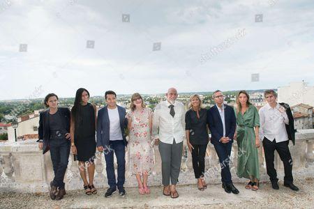 Raphael, Stefi Celma, Yvan Guyot, Denise Robert, John Malkovich (President of the Jury), Claire Chazal, Philippe Besson, Laura Smet, Lucas Belvaux