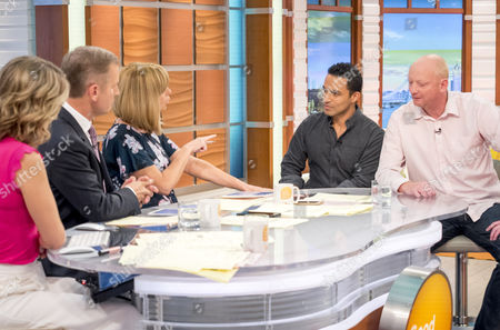 Charlotte Hawkins, Jeremy Kyle, Kate Garraway, Chris Ship and Hugo Vickers