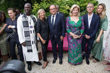 Francois Hollande, Claire Chazal, First Lady Dominique Folloroux-Ouattara, President of John Malkovich