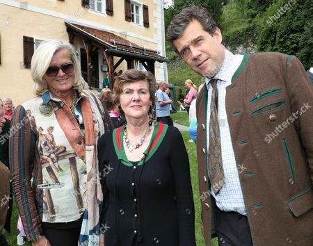 Ursula Plassnik, Helga Rabl-Stadler and Johannes Aki Schwarzenberg
