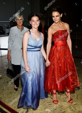 Kathleen Holmes, Katie Holmes Actress Katie Holmes arrives with her niece Kathleen and her mother Kathleen at the American Ballet Theatre's 2017 Spring Gala at The Metropolitan Opera House, in New York