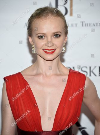 Stock Photo of Dancer Elina Miettinen attends the American Ballet Theatre's 2017 Spring Gala at The Metropolitan Opera House, in New York