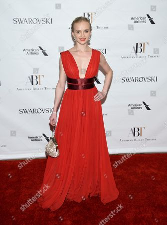 Stock Image of Dancer Elina Miettinen attends the American Ballet Theatre's 2017 Spring Gala at The Metropolitan Opera House, in New York
