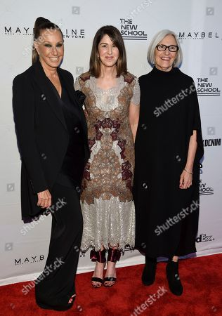 Donna Karan, Karen Katz, Eileen Fisher Honorees Donna Karan, left, Neiman Marcus CEO Karen Katz and Eileen Fisher attend the 69th Annual Parsons Benefit at Pier Sixty, in New York