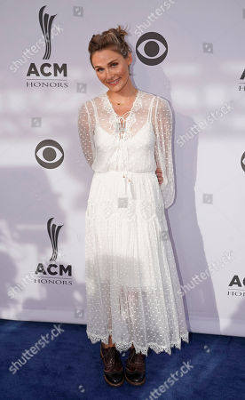 Clare Bowen arrives at the 11th annual ACM Honors at Ryman Auditorium, in Nashville, Tenn
