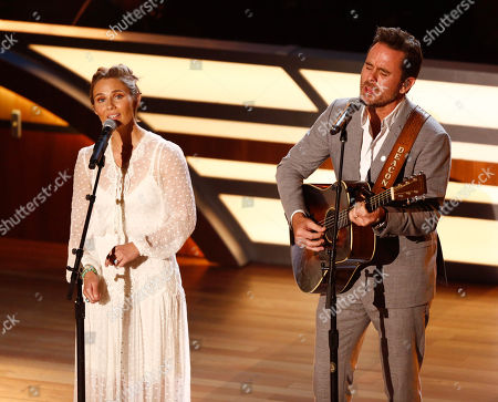 Clare Bowen and Charles Esten perform during the 11th annual ACM Honors at the Ryman Auditorium, in Nashville, Tenn