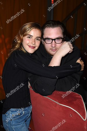 Stock Photo of Kiernan Shipka, Justin Campbell Kiernan Shipka, left, and Justin Campbell attend Tings Magazine Launch Party, in Los Angeles