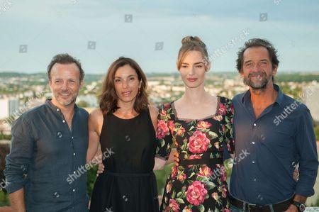 Pierre-Francois Martin-Laval, Aure Atika, Louise Bourgoin and Stephane De Groodt