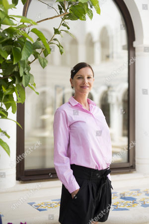 Stock Image of Teresa Enke the widow of Robert Enke, the german goal keeper who took his own life a few years ago.