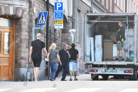 Editorial picture of Zlatan Ibrahimovic and Helena Seger moving in to their new home, Stockholm, Sweden - 19 Jul 2017