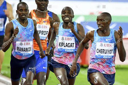 Elijah Motonei Manangoi, Silas Kiplagat and Timothy Cheruiyot