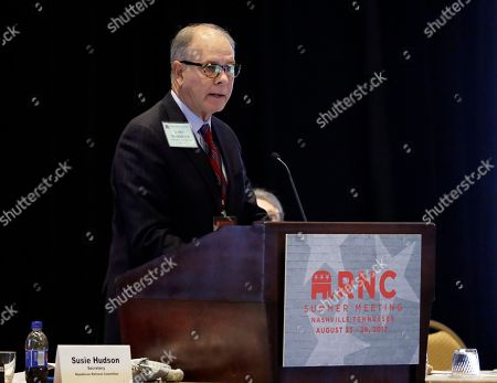 Vice-chairman John Hammond speaks during a session of the standing committee on rules at the Republican National Committee summer meeting, in Nashville, Tenn