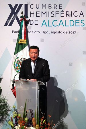 Editorial picture of Latin American leaders bet on municipal cooperation for development, Pachuca, Mexico - 24 Aug 2017